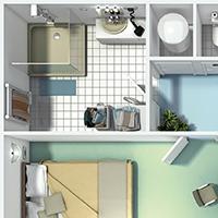 illustration 3d - les dangers de l'electricité domestique.
