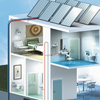illustration 3d iso - maison de retraite 3d