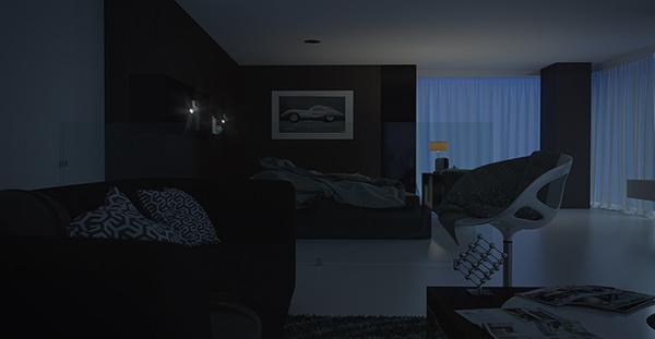éclairage 3d photo-réaliste, vue 2