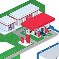 illustration isométrique - visuel 3d présent dans le rapport de developpement durable d'Engie-GDF de 2005