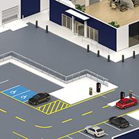 illustration isométrique - visuel 3d représentatnt un bureau.